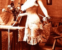 """Vintage Risque Nude Exotic - Erotic Corsets #023 Canvas Art Poster 16"""" x 24"""""""