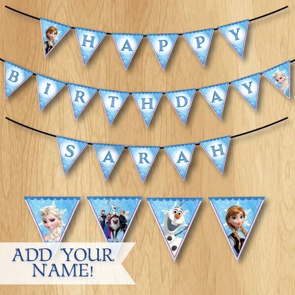 Frozen Birthday Banner Printable Frozen Banner Party By: Frozen Birthday Banner Frozen Banner By PrintMeParties On Etsy