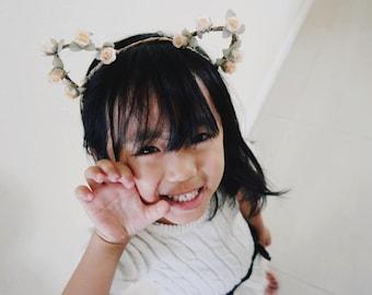 The Classic Kitty Cat Headband - Handmade Floral Kitty Cat Ear Headband