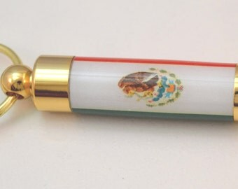 LDS Consecrated Oil Vial with the Mexican Flag Key Chain
