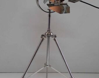 Full Chrome Mini Retro Flaps Floor Lamp with Flaps American Chrome Tripod Mini Floor Lamp ideal Not on the high street gift ideas