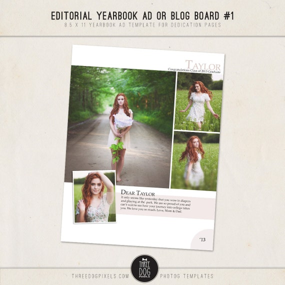 Items similar to editorial yearbook ad templates for high school seniors and photographers 1 on for Yearbook ad templates free