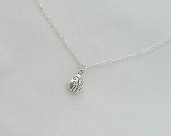 Delicate, Minimal Necklace, Ladybug Necklace