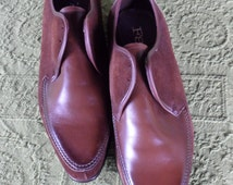 RETRO POINTED SHOES 4 Men/Brown Leather n Suede/Vintage 1960's Mens Shoes Winklepickers/Rockabilly/Zapatos Puntiagudos/ De Punta/Capricho