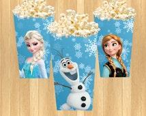 INSTANT DOWNLOAD - Disney Frozen Popcorn Box