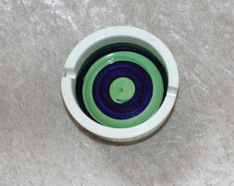 "Decorative vintage retro 60s striped ashtray ""Piggelin"", designed by Marianne Westman for Rorstrand, Sweden Scandinavian."