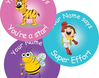 140 Personalised Teacher Reward Stickers