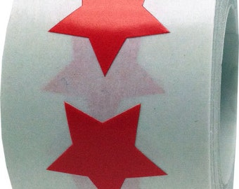 "Red Star Shape Stickers | 3/4"" Adhesive Star Stickers 