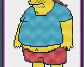 The Simpsons Comic Book Guy Counted Cross Stitch PDF Pattern - INSTANT DOWNLOAD