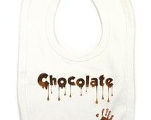 Chocolate Baby Bib, Chocolate Bib, Baby Chocolate, Funny Baby Bib, Unique Baby Gift, Cool Baby Bib, Funny Baby Clothes, Baby Shower Gaga Bib