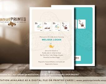 Memory Baby Shower Invitation - Printed OR Digital File - by peanutPRINTS