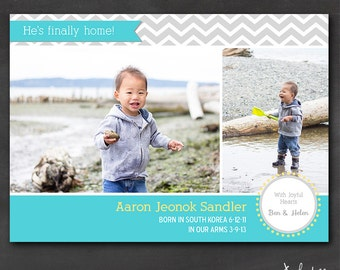 Adoption Announcement (Set of 50+) - Chevron Finally Home