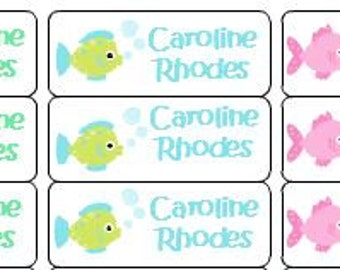 30 Personalized Waterproof Name Labels Mermaid Labels Name Labels Personalized Vinyl Labels Personalized Tags Favor Tags Daycare Labels