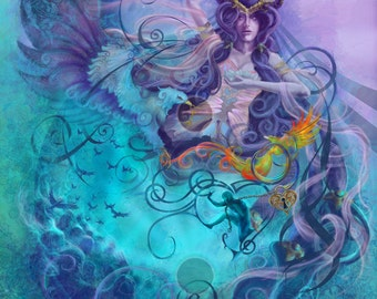 The Magnificence of You, Original art, Open edition print, fantasy fine art