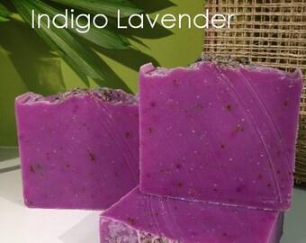 Indigo Lavender Handmade Cold Process Artisan Soap - Vegan