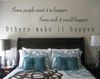 Make It Happen Motivational Wall Decal - sports wall decal, motivational  quotes, weight room decal, Michael Jordan, Michael Jordan Quote