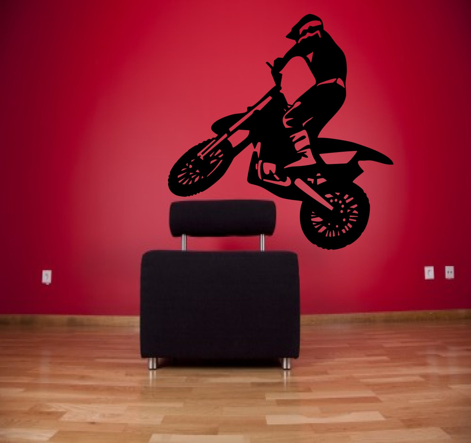 Dirt bike wall decal motor cross decal motorcycle decal for Dirt bike wall mural