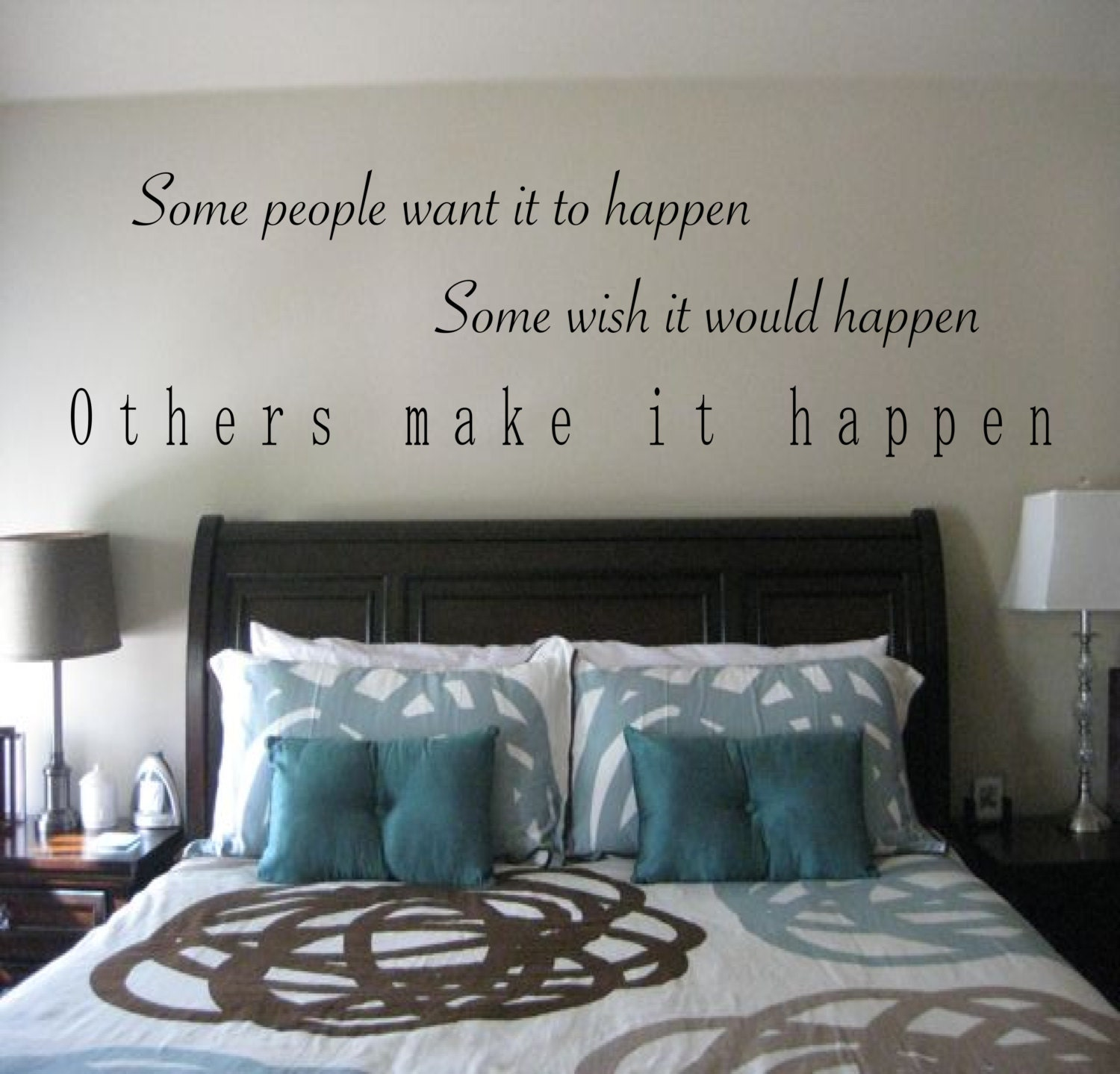 Make it happen motivational wall decal sports wall decal zoom amipublicfo Choice Image