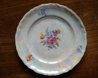 1920's EPIAG Lustre and Floral Tea / Bread and Butter Plate