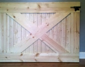 Custom, handmade farmhouse rustic wooden baby/ dog gate. Stained or painted to your color choice with mounting hardware and latch included.