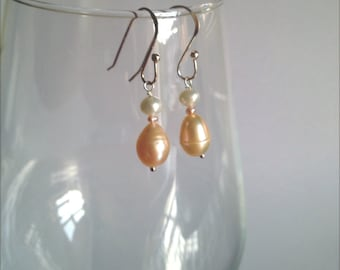 Freshwater Pearl Earrings on Sterling Silver