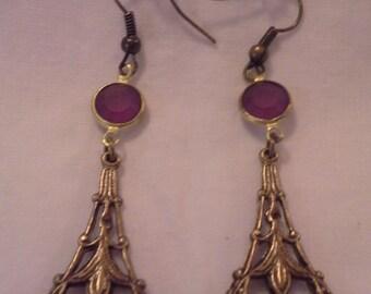 Victorian Filigree Dangle Earrings = E 115