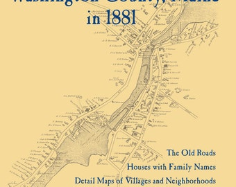 The Old Maps of Washington County,  Maine in 1881