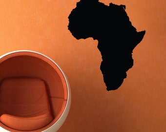Travel wall decal etsy africa wall vinyl decal sticker family kids room mural america continent egypt amazon earth globe gumiabroncs Gallery