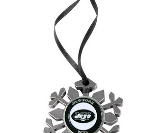 New York Jets Snowflake Christmas Ornament