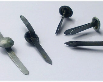 Set Of 10 Helmet Liner Split Pin Rivets Genuine Soviet Bloc Steel 1980s 22mm Long Unissued