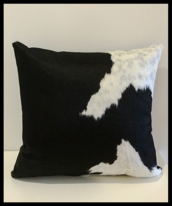 Black and White Designer Cowhide Accent Pillow Fill Insert
