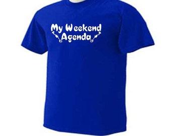 My Weekend Agenda Metal Detecting Treasure Hunting Metal Detector Hobby  T-Shirt