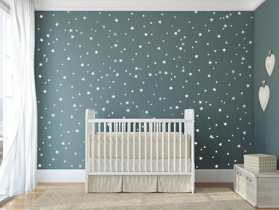 Kinderzimmer baby wände  Sterne Vinyl Aufkleber 148 Silber Sterne Stern Wand &