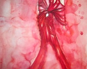 Fashion Illustration - Wall Art - Original Watercolor Painting Only one no prints or copies