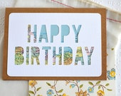 Cards for Travelers - Custom Happy Birthday Card - Custom Map Card - Traveler Greeting Card - Happy Birthday Vintage Map Card