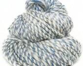 Handspun handdyed yarn BFL Merino wool baby camel alpaca silk sparkle faux cashmere