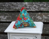 Turquoise Paisley Menstrual Cup Pouch