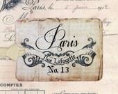 Rustic Paris Tags , Shabby Wedding Tags , Shabby Paris Tags , Party Favors , Bluebirdlane , Vintage Style Gift Tags