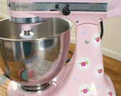 Lace and Flowers Kitchenaid Decals