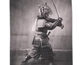 Samurai Tiger, Shower Curtain, Printed in USA