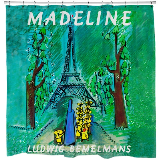 Items similar to Madeline, Book Cover, Shower Curtain ...