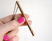 Gold Whistle Necklace - FREE US Shipping