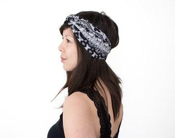 Turban Headband //Turband // Turban Hair Wrap // Fashion Turban // Lycra Turban // Tribal Turban // Ikat Style // Geometric Turban