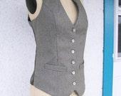 Custom Keyhole Neck Vest with Corset Back