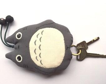 My Neighbor TOTORO Japanese Key Cover Studio Ghibli  fabric keychain gray 1