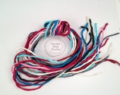 Silk Ribbon Cord Bundle Item No.342 Contains Ten 2mm Silk Ribbons Random Colors