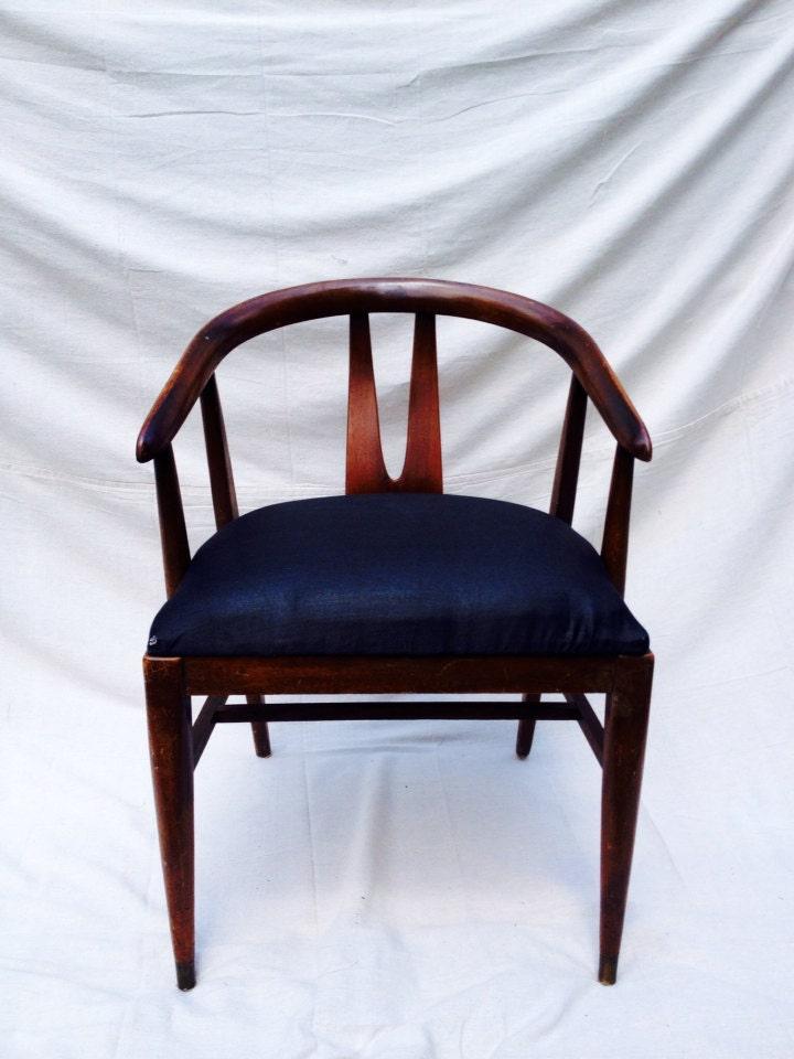 Mid Century Walnut Dovetail Arm Chair Haute Juice