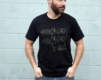 Men's Guitar Pickups Tshirt - mens graphic tee - music tshirt - rock and roll tshirt - minimalist design - gift for musician - guitar player