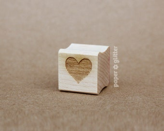 Heart Mini Rubber Stamp Cute Valentine (Wood Engraved or Self Inked) 0063