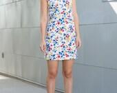 primary floral mini shift dress- xs/s